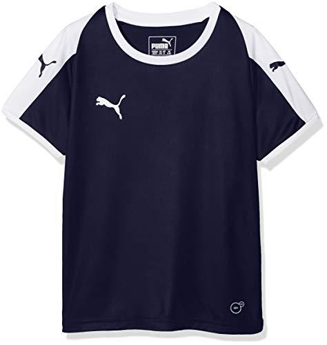 Puma Kinder Liga Jersey Jr T-Shirt, Peacoat White, 128 - Puma Mädchen Kleidung