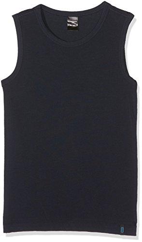 Schiesser Jungen Unterhemd 95/5 Shirt 0/0 Blau (Nachtblau 804), 152 (Herstellergröße: S) (Tank Pima-baumwolle, Top)