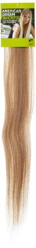 American Dream - A1/QFC12/24/25 - 100 % Cheveux Naturels - Barrette Unique Extensions à Clipper - Couleur 25 - Blond Léger - 61 cm