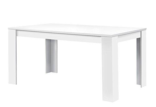 agionda ® Esstisch Toledo in Weiss 120 x 80 cm mit kratzfester Melaminharz Beschichtung -