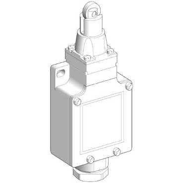Schneider Electric finecorsa XCKL102, metallo 1-conduit 74x 56x 30mm metallo a rulli pistone NC + (Conduit Pistone)