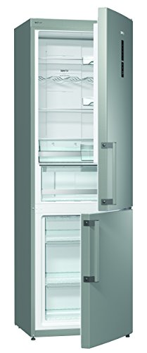 Gorenje NRK 6192 MX Kühl-Gefrier-Kombination / A++ / Höhe: 185 cm / Kühlen: 222 L / Gefrieren: 85 L / NoFrost / TouchControl Display / Anti Fingerprint