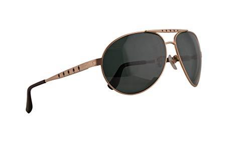Chopard SCHB01M Sonnenbrille Matt Rose Gold Mit Polarisierten Grünen Gläsern 64mm L45P SCH B01M SCHB 01M