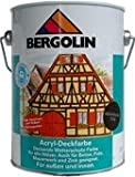 Bergotec 750 ml wetterbeständige Holzfarbe für Außen auf Dispersionsbasis Wasserverdünnbar (grau 7232)