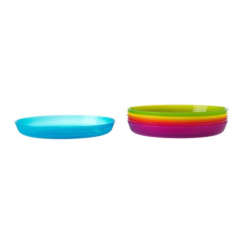 Ikea - Kalas Children Color Plates,Set Of 6