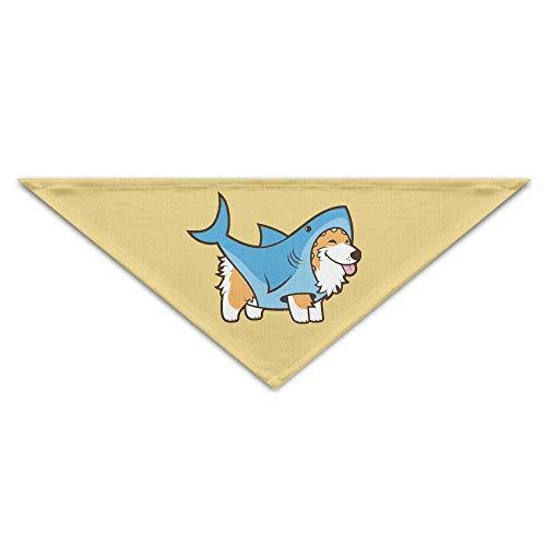 Hectwya Cute Corgi In A Shark Suit Mehrfarbige Haustierbandanas für Ihren Hund oder Ihre Katze klein bis mittelgroß