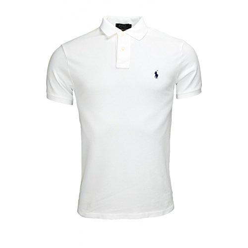 Polo Ralph Lauren Herren SS KC Slim FIT White Poloshirt, Weiß A1000, Medium