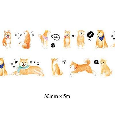 IENGWG 3 cm * 5 mt Haushalt leben möbel washi klebeband DIY dekoration scrapbooking planer masking tape etikett aufkleber schreibwaren01 Hund -