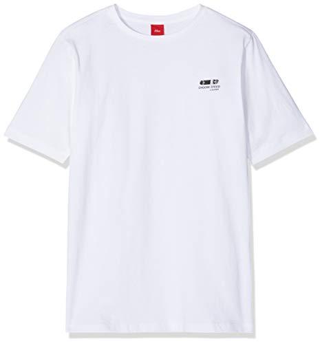 s.Oliver Jungen 75.899.32 T-Shirt, Weiß (White 0100), 164/REG