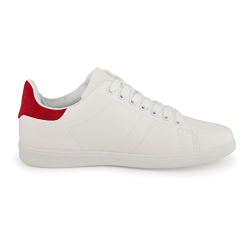 Apartamentos Branco Best botas top Retro Senhoras Sneakers Sneaker Baixo Homens Vermelho xqRAr0wSnq