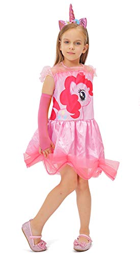 neval Kostüm Fasching Cosplay Prinzessinkleid Einhorn Prinzessin Kleid (M) ()
