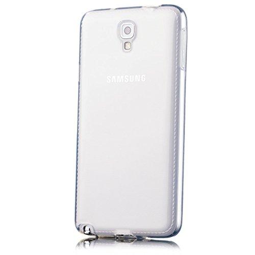 iCues   Samsung Galaxy Note 3 NEO   trasparente TPU Chiaro   protettore foglio trasparente della cassa della pelle del gel Sereno Sereno sil [Screen protector Compreso] Custodia Cover Case Tasca Borsa