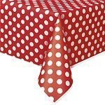 Dekorative Gepunktete Plastik Tischdecke Rot Polka Dot Tischdecke