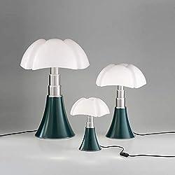PIPISTRELLO-Lampe ampoules LED pied télescopique H66-86cm Vert Agave Martinelli Luce - designé par Gae Aulenti
