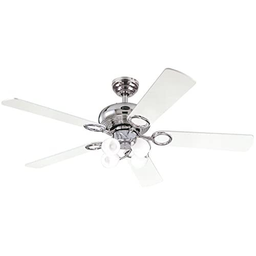 31QvHikswSL. SS500  - Westinghouse Ceiling Fans 78753 Helix Fusion Four-Light 132 cm Five-Blade Indoor Ceiling Fan, Chrome Finish with Opal…