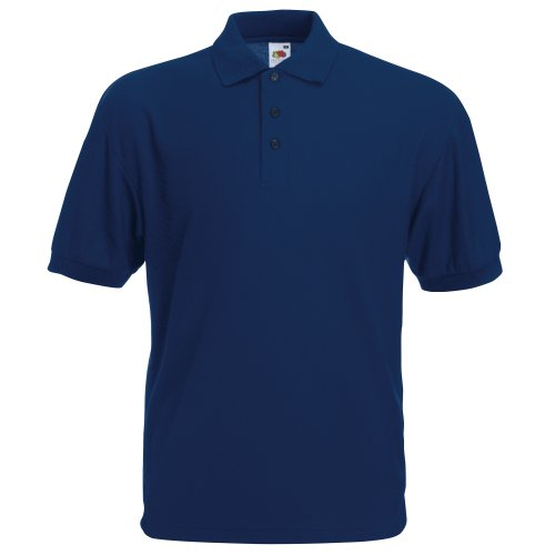 Fruit of the Loom Herren Poloshirt Marineblau