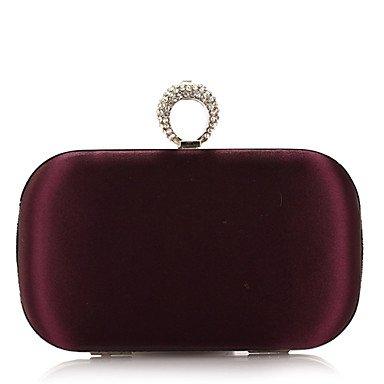 Damenmode und elegante Seide und Satins Falten Diamanten Partei/Abend Tasche Purple