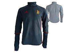 adidas Trainingstop Belgien Fußball Nationalmannschaft Fan Jersey WM 2018, Grau, , S, AC5771