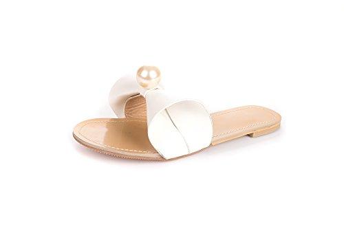 YFF Calzature donna dolce Signore sandali sandali piatti donna casual scarpe estive 5