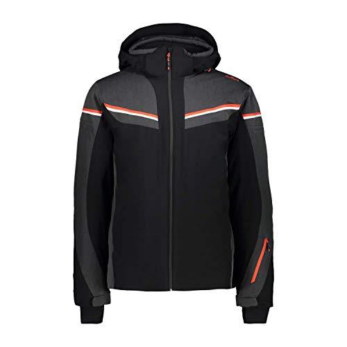 CMP Herren Skijacke Man Jacket Zip Hood 39W1437 Nero 46