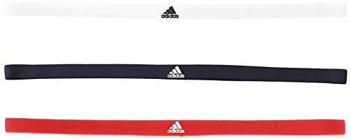 adidas 3er-Pack Haarband, Legend Ink/White/Active Red, OSFM