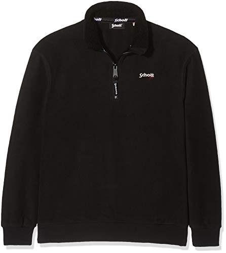 Schott Swbarret Sweat-Shirt, Noir (Black Black), X-Large (Taille Fabricant:XL) Homm