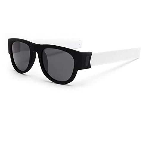 Kjwsbb Falten Slap Sonnenbrille polarisierte Frauen slappable Armband Sonnenbrille für männer Armband Falten Shades