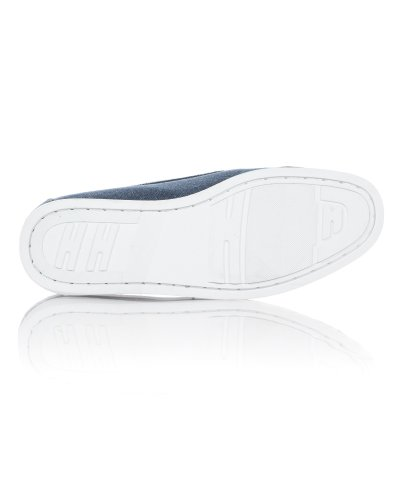 BLZ jeans - Chaussures En Cuir Et Toile Denim Homme Bleu