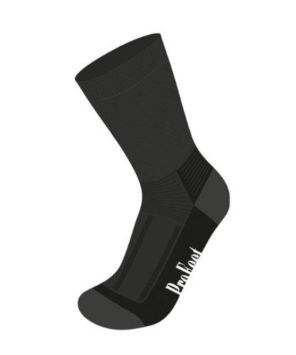 Pro Feet Outdoor Wool Black White Kit de Chaussette de randonnée Sport Noir, Noir