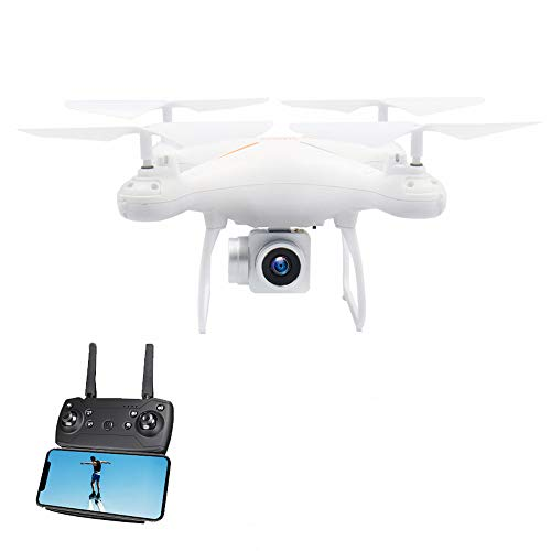 Faironly GW26 RC Drone 1080 P HD Fotocamera 4 CH Lungo Tempo Volo WiFi FPV Mini Drone H?He Halten Headless Mode Profissional Quadcopter (White)