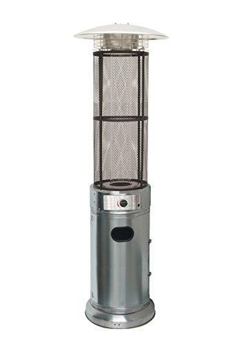 Estufa de exterior de gas con cuerpo inoxidable. Ideal para exteriores y terrazas a gas para utilización en espacios abiertos o cerrados con ventilación. Idóneos para uso particular y en hostelería, calentando el ambiente en patios, terrazas, porches...