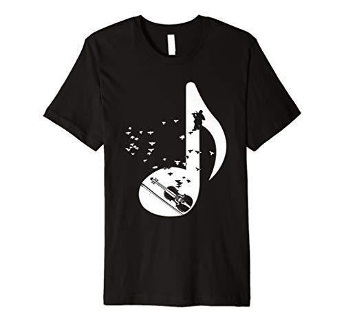 Geigen-Spieler T-Shirt I Geschenk Violine Violinist Noten