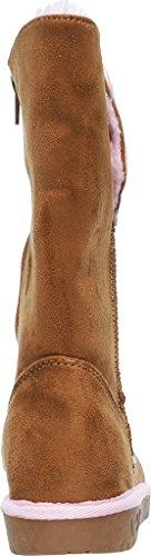 Skechers Glamslam Button Beauties, Desert Boots Fille Marron
