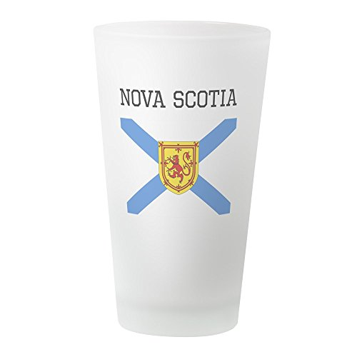 CafePress Nova Scotia Flagge, Pint-Glas, 473 ml Trinkglas frosted Imperial Blue Cup