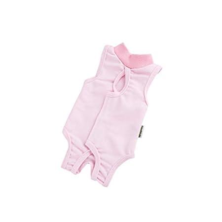 POPETPOP Recovery Suit Sterilisation Pflege Wipe Medicine Verhindern Lecken Nach der Operation Tragen Weaning und Warmhalte Recovery Tuch Anzug für Katzen Hunde Haustiere – Größe L (Pink)