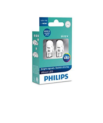 Philips 11961ULWX2 LED T10 lampe de signalisation automobile (W5W), 6.000K, Blanc, Set de 2