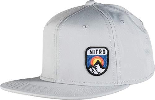 Erwachsene 6-panel-cap (Nitro Snowboards Erwachsene WP Ball '19 Wasserabweisende atmungsaktive 6 Panel Cap Hat Mütze Basecap Baseballcap Hat, Dove, One Size)