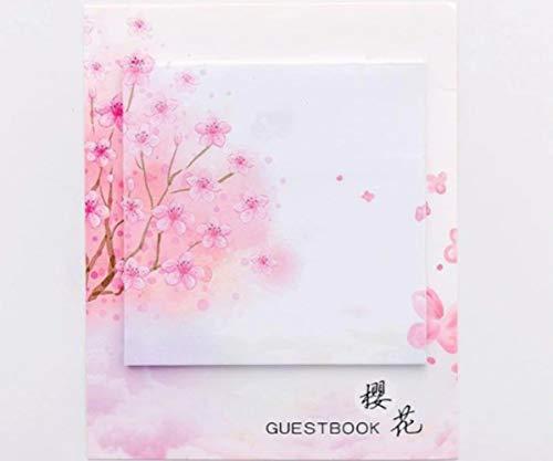 1pc Zweig Mit Blüten Blühen Sakura Square-Papier-Pink Floral Niedlich Memo Pad Aufkleber Aufkleber Sticky Notes Scrapbooking Diy Kawaii Notizblock -