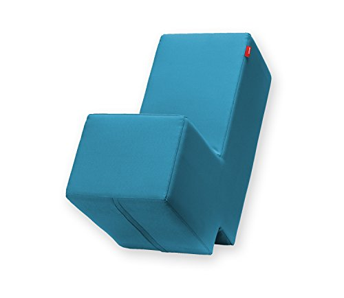 Lümmel Polsterhocker zum Sitzen, Spielen und Rumtoben - Loungemöbel & Spielmöbel für Kinder und Erwachsene - Petrol