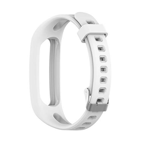 Armband für Huawei Honor 4 Running, Webla 20 mm weiches Silikon-Uhrenarmband Ersatz-Uhrenarmband mit Schnellverschluss Kompatibel mit Huawei Honor 4 Running - Herren-erweiterbar-uhr Bänder