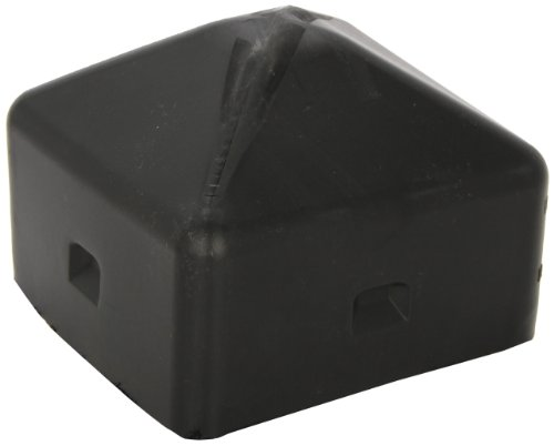 Eagle 1759 Bollard Post Cap, Square, 5 Size, 5-1/4 length x 5-1/4 Width, Black by Eagle (Square-post)