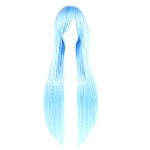 Chakil 80cm Glattes Haar Cosplay Perücke mit Perückenkappe Anime Cosplay Wigs + Perücke ()