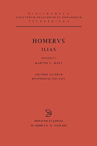 Homeri Ilias: Recensvit/Testimonia Congessit