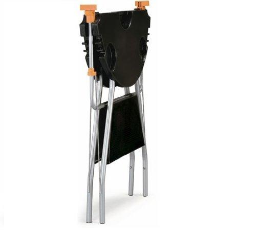 pro-iroda o-dock–Mesa de barbacoa de alta resistencia plegable negro