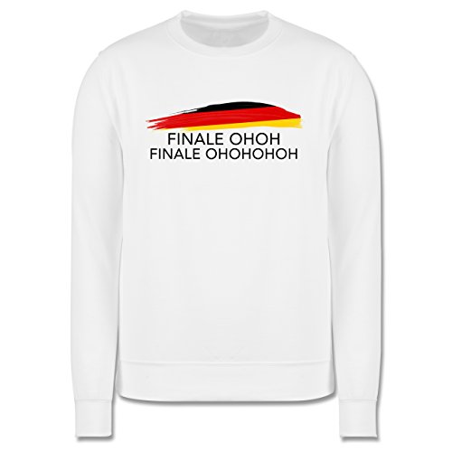 EM 2016 - Frankreich - Deutschland Finale OHOH - Herren Premium Pullover Weiß