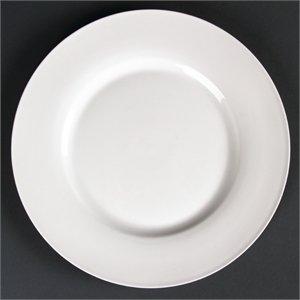 Lumina breitem Rand rund Teller 230mm 230(Ø) mm/22,9cm weiß. Anzahl: 6Stück. 9 Wide Rim Plate