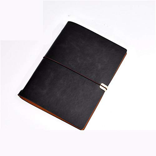 A6 Notebook Handbuch Retro Notebook Kreative Riemen Kunstleder Tragbares Notebook (2 StüCke) 23,5 * 17,5 Cm -