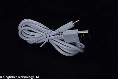 Kingfisher Technology 90cm USB 5V 2A PC White Charger Power Cable Lead Adaptor (22AWG) for Ampe A90 Tablet