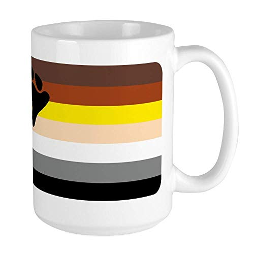 SHALLY Gay Bear Pride Flag HD Funny Coffee Mug Cool Coffee Tea Cup 11 Ounces Large Mug Coffee Drink Cup for Family and Friend -