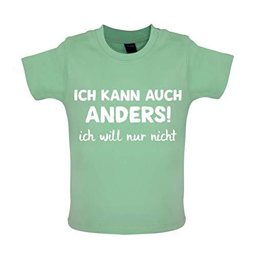 ! Ich Will Nur Nicht - Witziges Baby T-Shirt - Mintgrün - 3-6 Monate ()